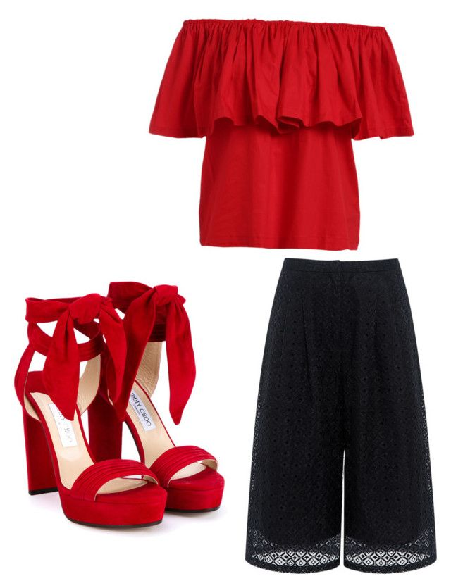 """""""Mexican Night"""" by babylauren12 ❤ liked on Polyvore featuring Edit and Jimmy Choo"""