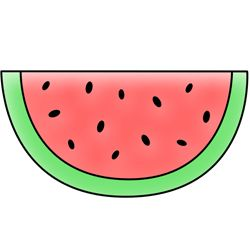 Cartoon watermelon drawing