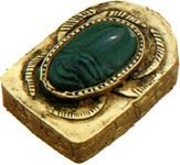 The scarab-beetle god Khepera was believed to push the setting sun along the sky in the same manner as the bettle with his ball of dung.