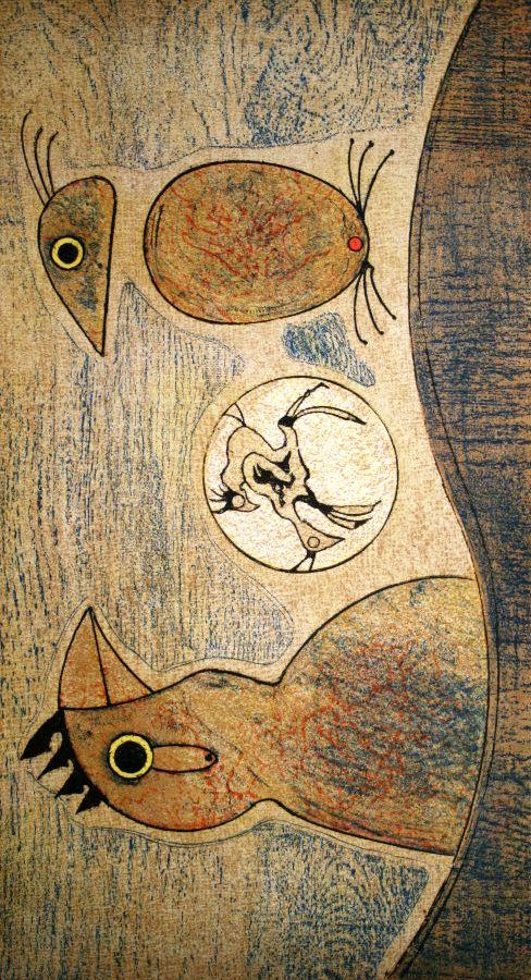 """""""Composition en ocre"""", Max Ernst, 1975"""