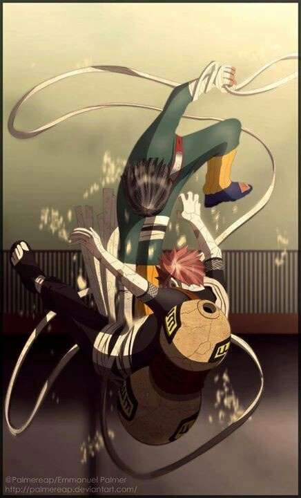 One of the Best fights-Rock Lee vs Gaara. Gaara is one of my favorite characters but i have to say i was rooting for Lee