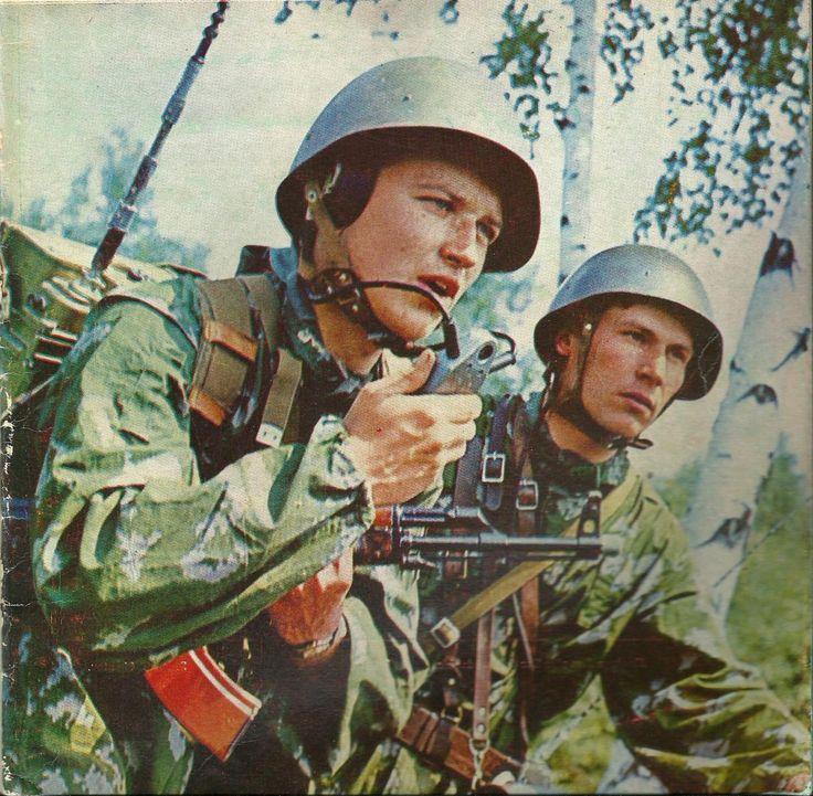 Soviet soldiers on training.