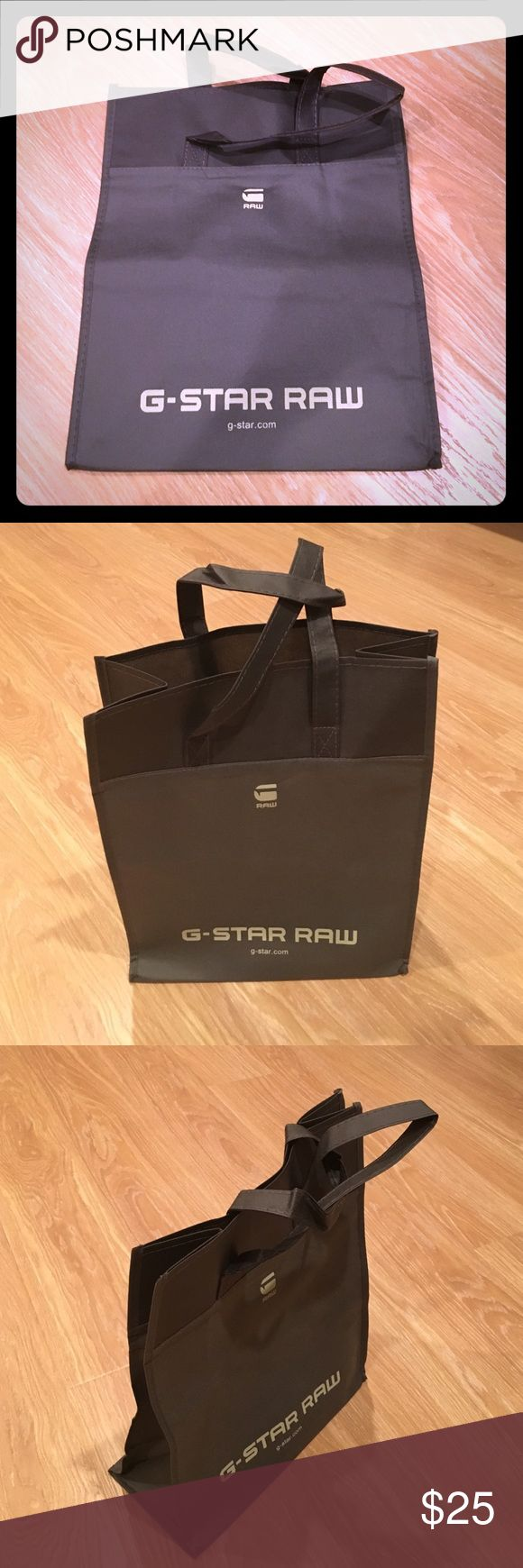 """G-STAR RAW SHOPPING BAG G-star Raw shopping bag. Height: 15 1/4"""" width:11.75"""" depth:6"""". Never been used. Perfect condition. G-Star Bags"""