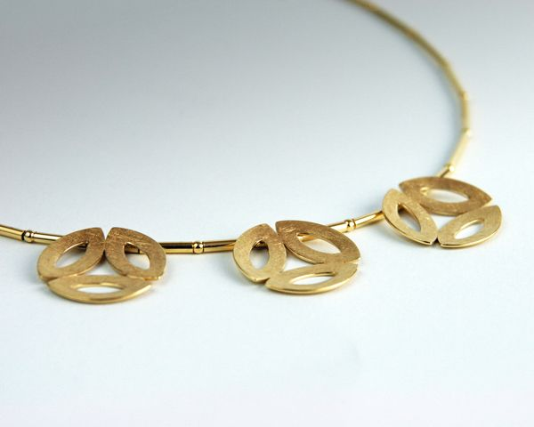 Silver necklace, goldplated