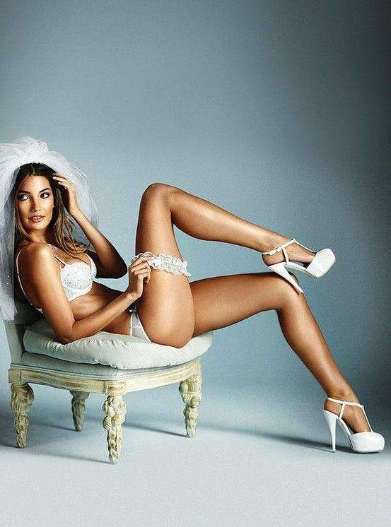Bridal boudoir. I don't really like this image, but I think the pose is creative and i like the shoes