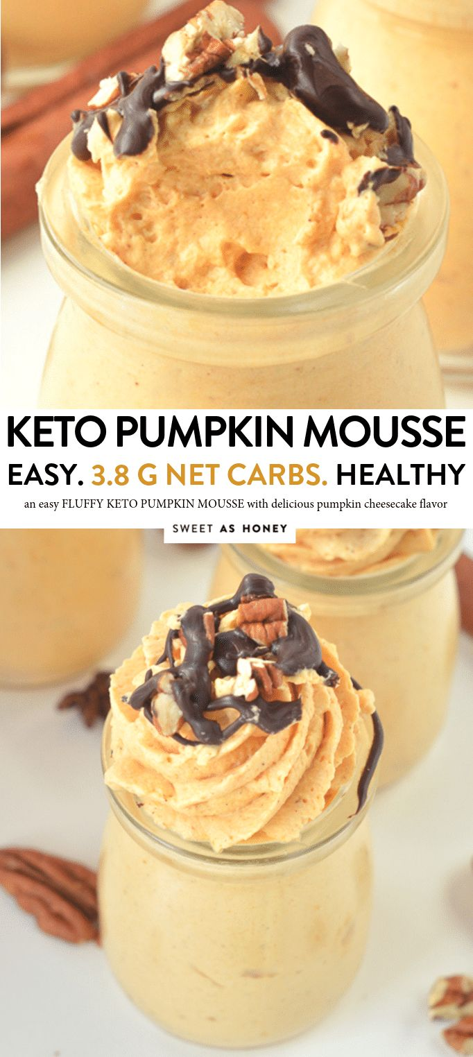 EASY KETO PUMPKIN MOUSSE healthy cheesecake mousse, low