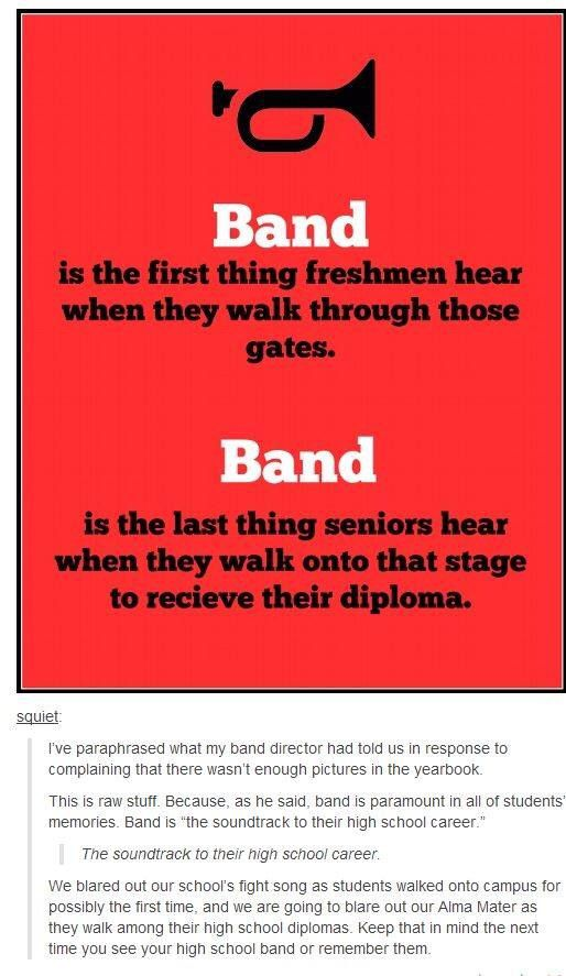 I quit band, but this just reminds me of the huge amount of respect I have for it and for many of my friends.