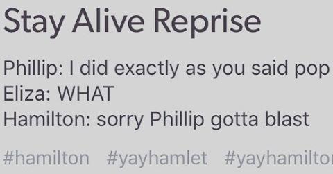 Hamilton you said you'd KEEP HIM SAFE