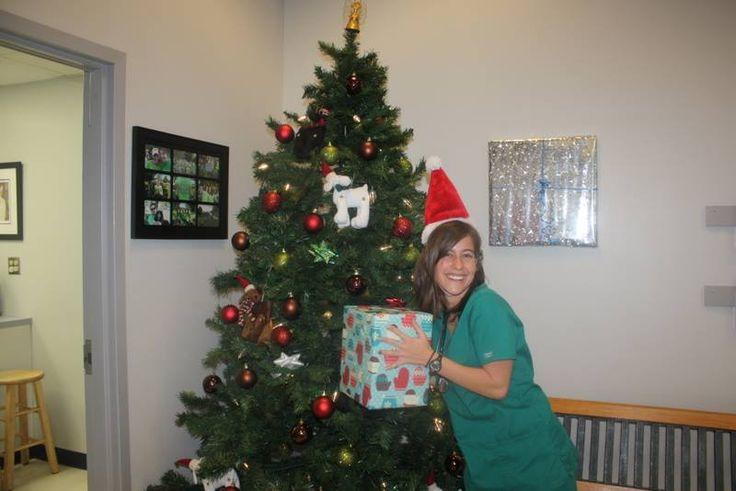 Allison our intern! #Animal Hospital #Veterinarian #Pets #Vet #KAH #FrederickMaryland #Christmas #GivingBack #KAHInterns
