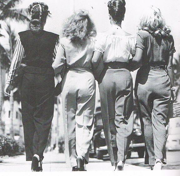 Wearing pants. Miami Beach, 1946
