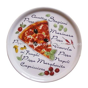 Ceramic Pizza Plate Customized Designs are Welcome Dishwasher and Microwave Oven Safe  sc 1 st  Pinterest & 26 best ceramic pizza plates images on Pinterest | Porcelain ...