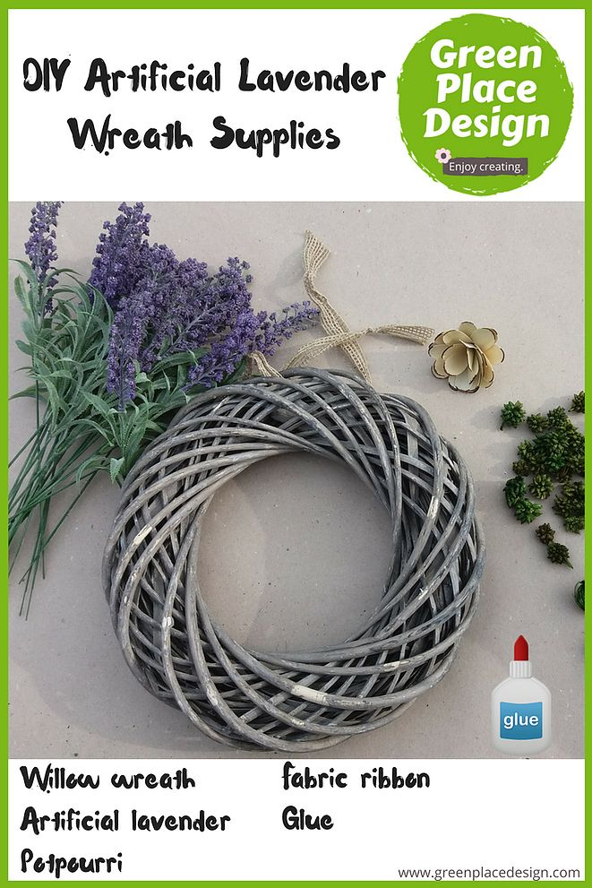 #DIY #artificial #lavender #wreath | Green Place Design | An #easy #DIY #project.  Wanting to have a nice purple wreath to use year over year, made me think of using artificial lavender to make one. #handmade #homedecor #decoration #design #inspiration #decoridea #crafts #diyproject #diydecorating #diycrafts #diytutorial #cheaphomedecor #easydiy #easyhomedecor