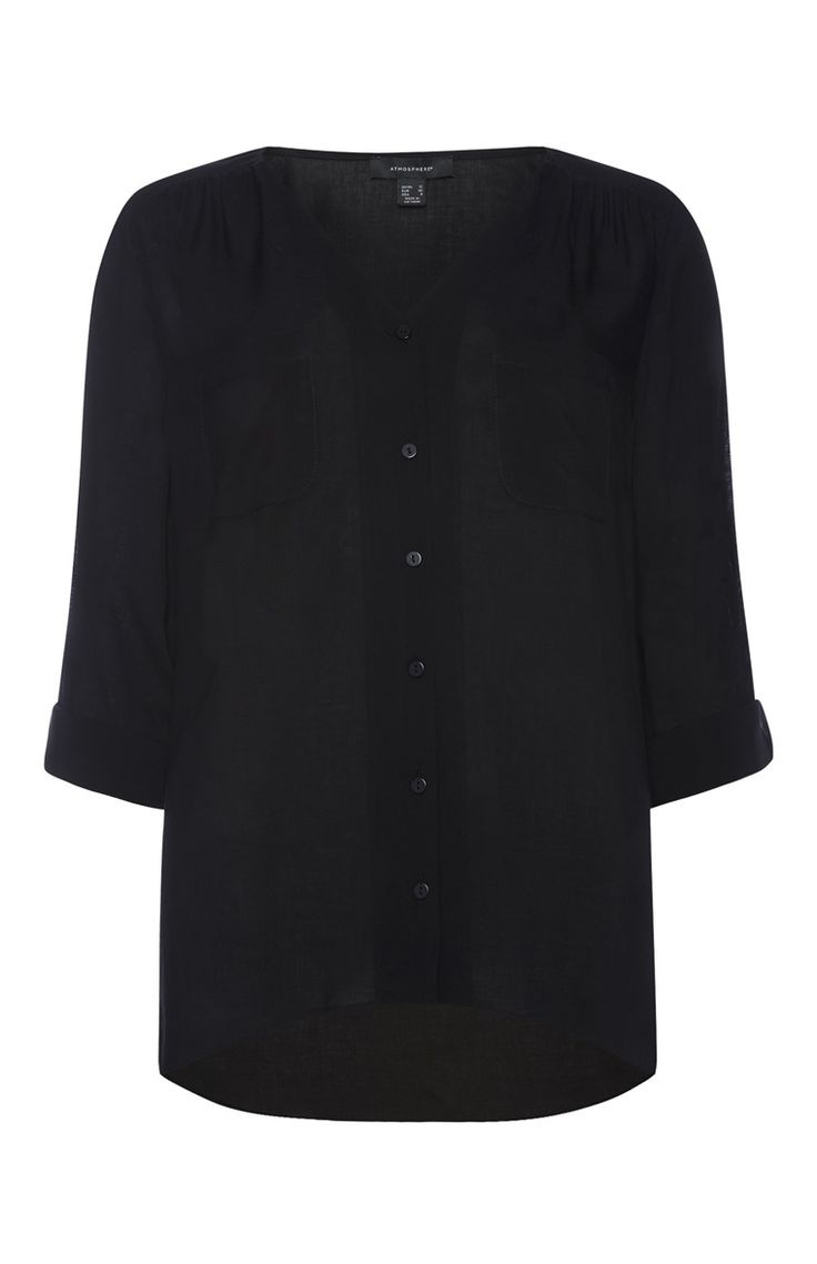 Primark - Zwarte blouse van luchtige stof