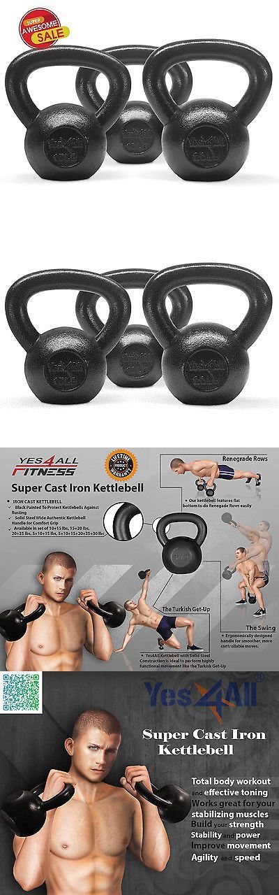 Kettlebells 179814: Yes4all Kettlebell Solid Cast Iron Cap Fitness Exercise 10 15 20 Lbs - ²Kcc8f BUY IT NOW ONLY: $56.99