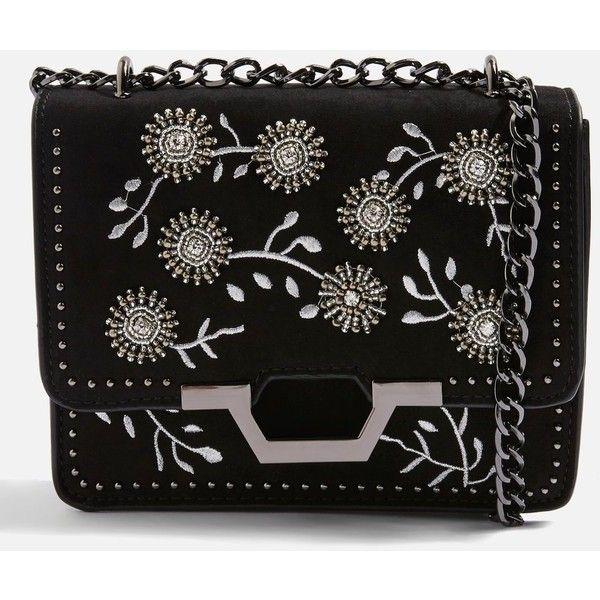 TopShop Riley Beaded Cross Body Bag ($52) ❤ liked on Polyvore featuring bags, handbags, shoulder bags, black, cross body, beaded handbags, topshop handbags, topshop purse and crossbody handbag