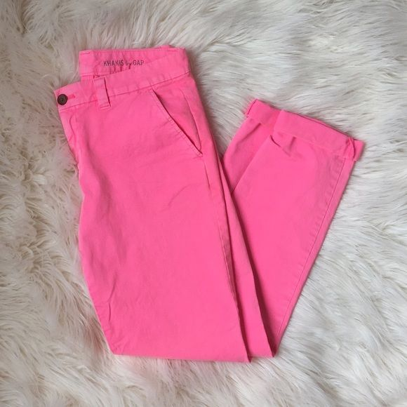 Neon Pink Pants,  3 for $20 SALE Great condition! Small stains on the bottoms where rolled. Always ships within 24 hours! Bundle to save! GAP Pants