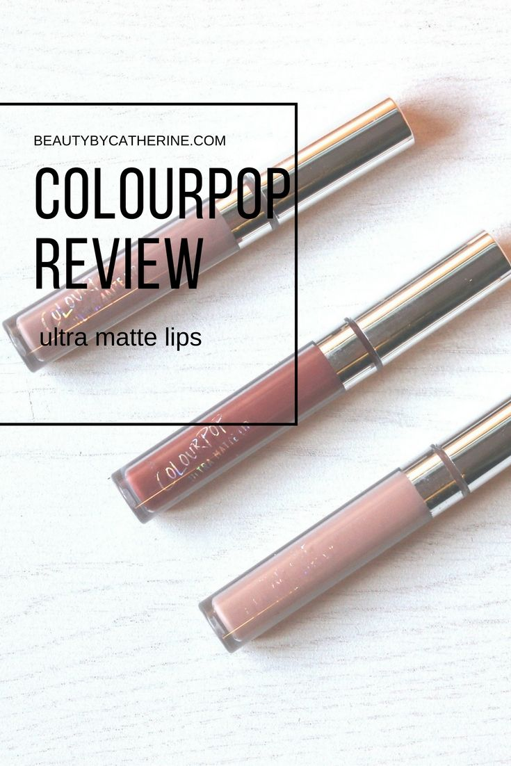 ColourPop ultra matte lip review in trap, tulle, and midi // full review: http://beautybycatherine.com/colourpop-ultra-matte-lip-review
