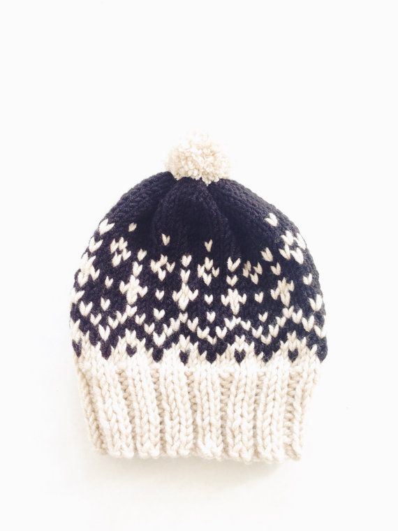 Stowe Toboggan by Two of Wands // Pompom Winter Ski Fair Isle Patterned Alpine Beanie Cap Hat