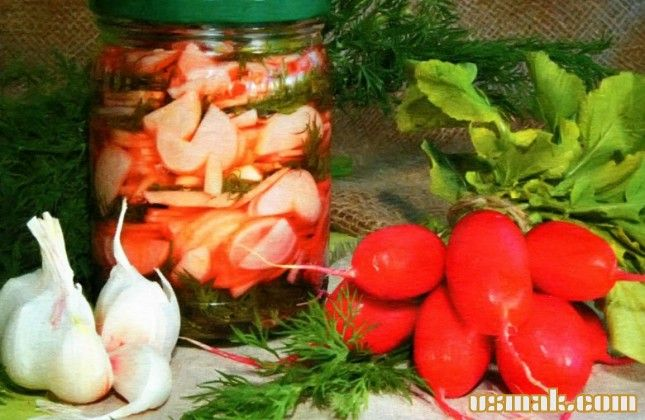 Рецепт Салат из редиса на зиму фото