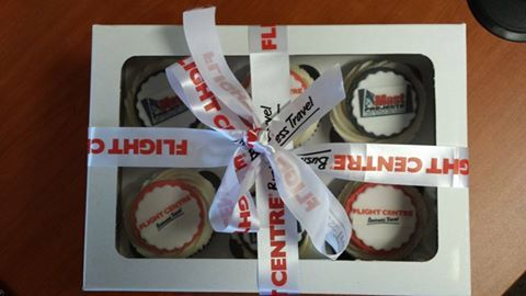 Thank You Flightcenter Business Travel for the personalized cupcakes. What an honour to deal with such professional company and people.  Photo by: Lana Delport van Niekerk