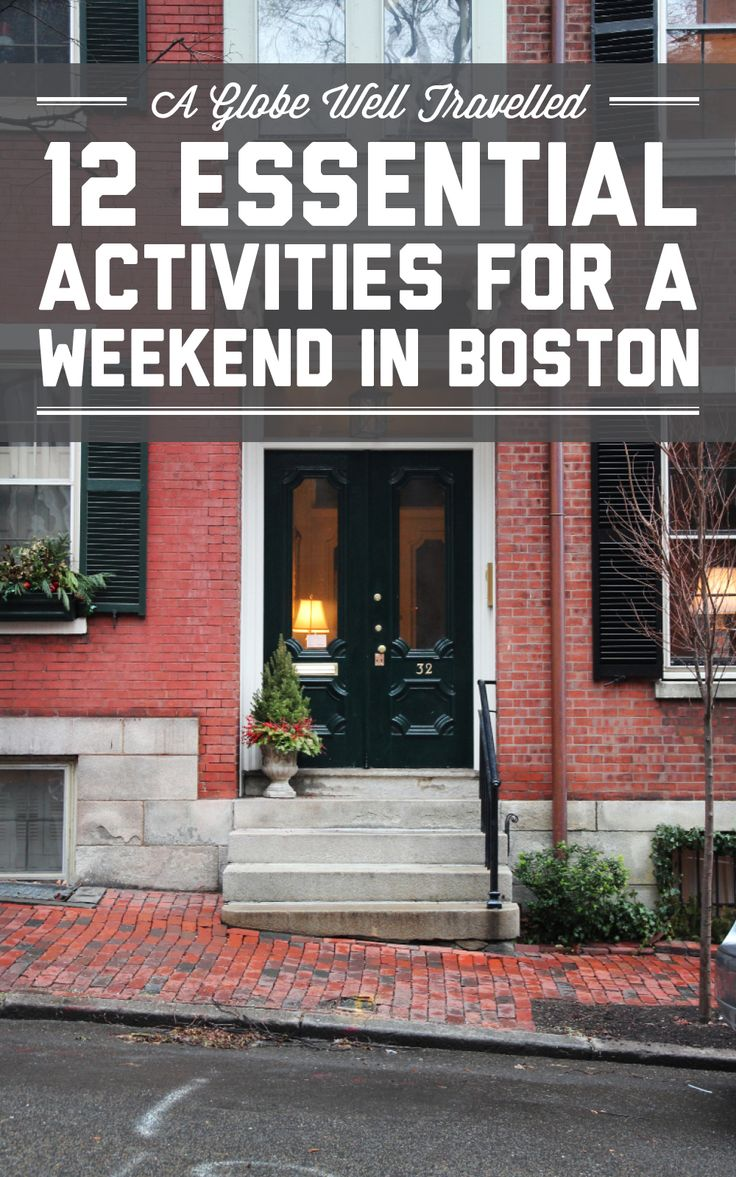 12 essential activities for a weekend in Boston / A Globe Well Travelled