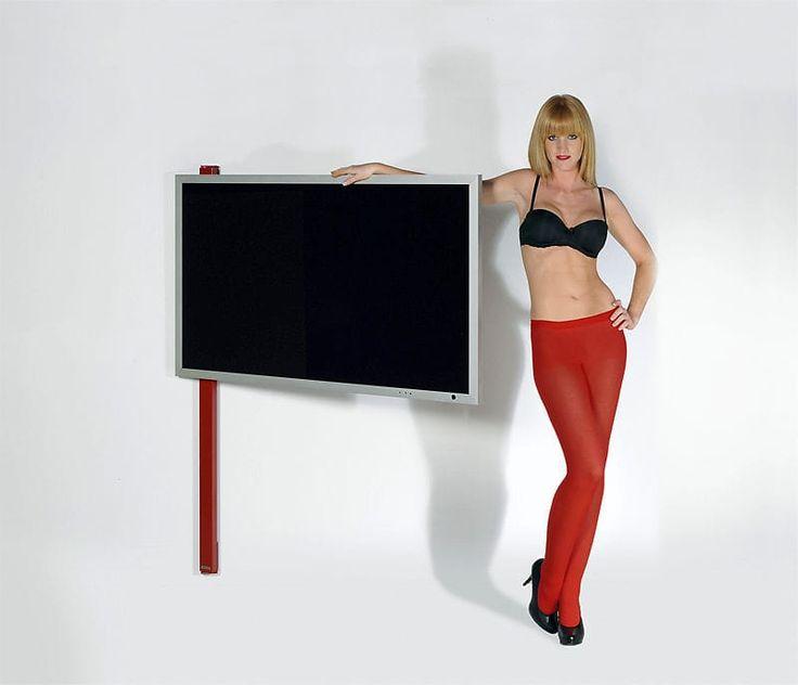 Contemporary TV wall bracket / with DVD player shelf / swivel WANDHALTER TV ART121 wissmann raumobjekte