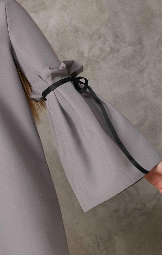 Платье прямого силуэта с пышными рукавами и репсовой лентой TOP20 Studio / 2000000250263-5