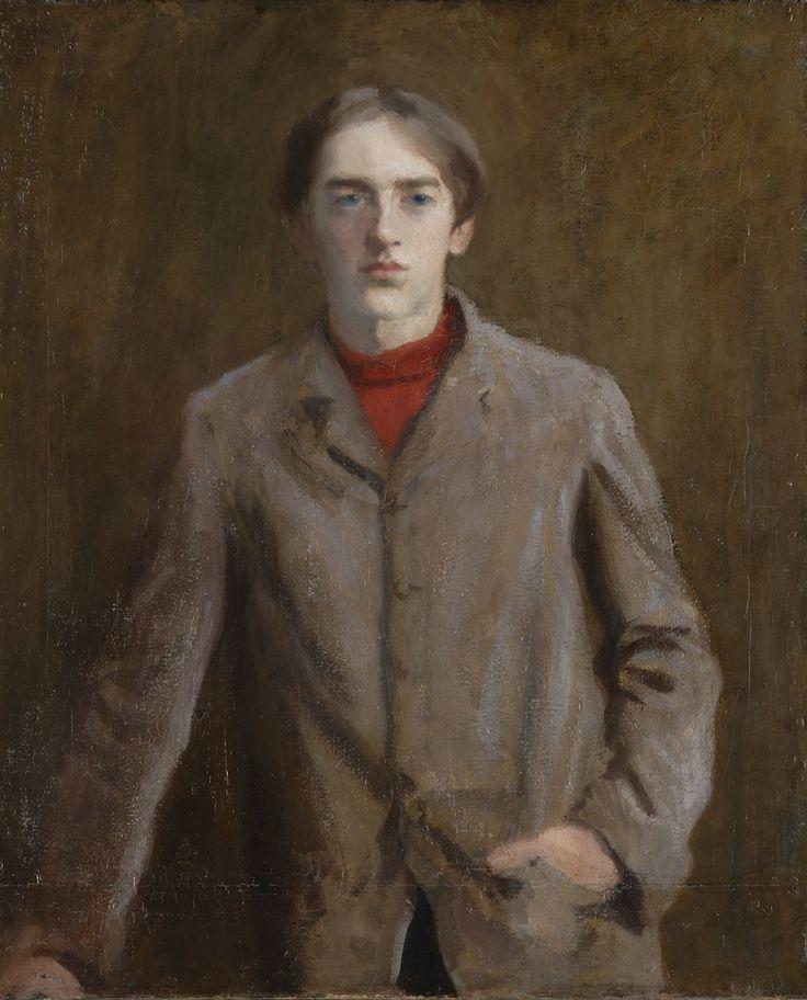 Károly Ferenczy -- Béni bársonykabátban ('Béni in velvet coat'), 1906
