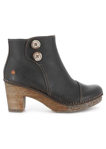 fd8b1edf ART støvler AMSTERDAM 0362 rustic black . Sorte ankelstøvler med hæl ...