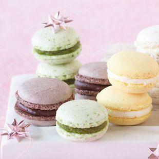 Füllungen: Himbeergelee, Pistanzien, Vanille-Kokos, Schokolade und Zitrone