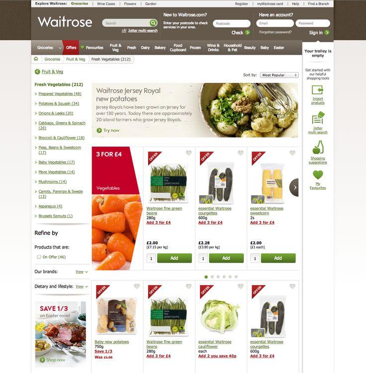 Waitrose website - ins...