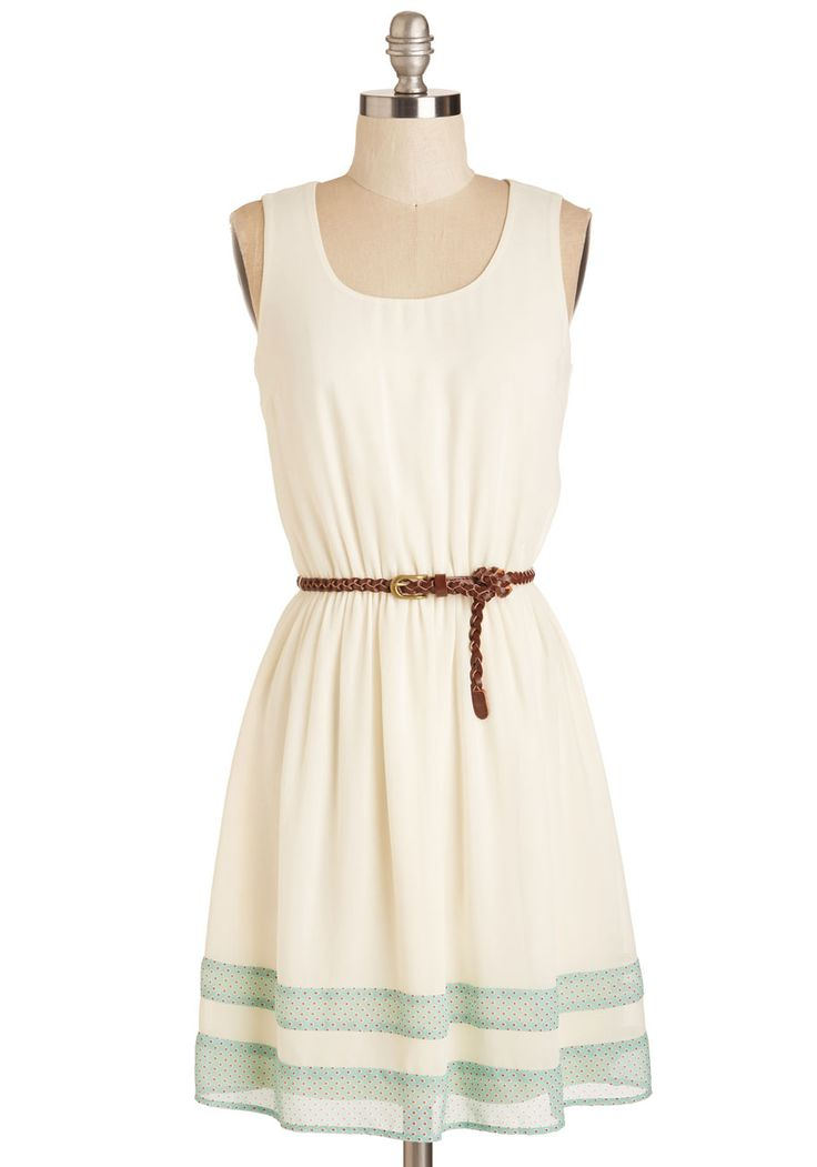 The Good Stroll Days Dress. Reminisce about the neighborhood in which you grew up as you prance about your new hometown in this simple dress. #white #modcloth