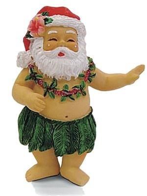 hawaiian hula kane dancer santa claus beach tropical christmas ornament ebay beach xmas ideas christmas tropical christmas santa