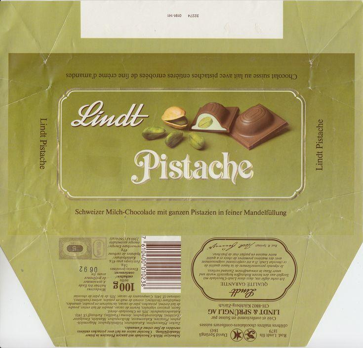Pistache  Milchschokolade mit ganzen Pistazien in Mandelfüllung 1991
