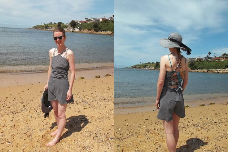 Summer (officially) ends today in Australia. Antipodean Stitcher: Last Day of Summer Beach Romper