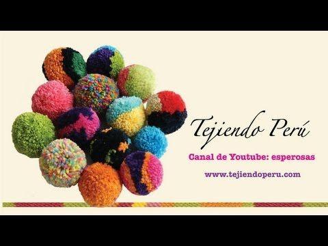 http://www.tejiendoperu.com/  Un tip pequeñito para lograr pompones redonditos y del tamaño esperado!!!