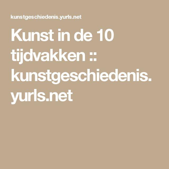 Kunst in de 10 tijdvakken :: kunstgeschiedenis.yurls.net