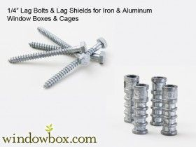 4pk of 2in.Long x 1/4in.Dia. Lag Bolts w/ Lag Shields