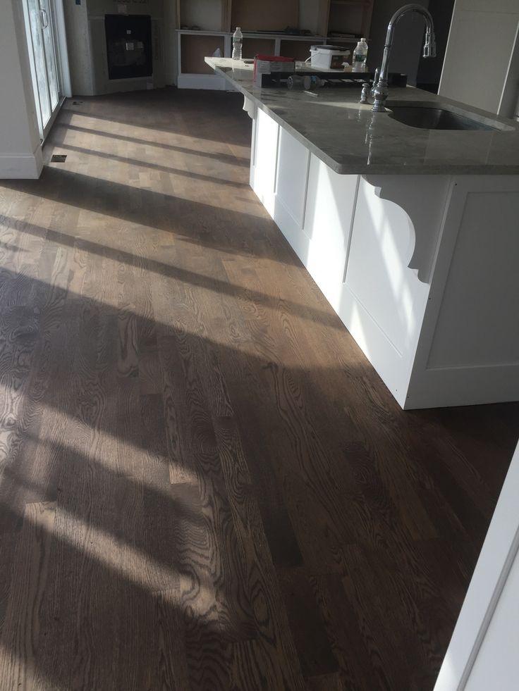 White Oak Floors- 50% Jacobean, 25% dark walnut, 25% classic Gray
