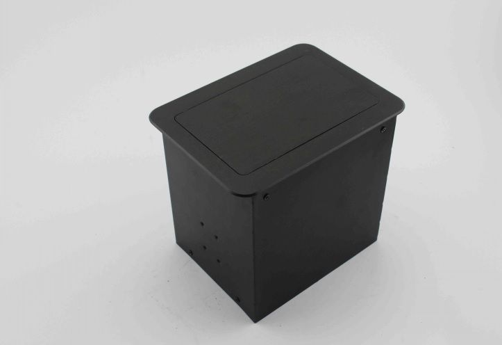 Built in Desk Cable Grommet Power and Data 3 Positions Outlet Tabletop Cable Interconnect Box 175x130mm