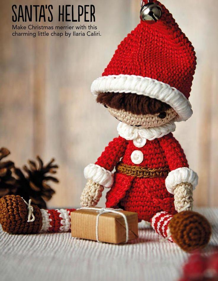 christmas elf toy amigurumi free pattern