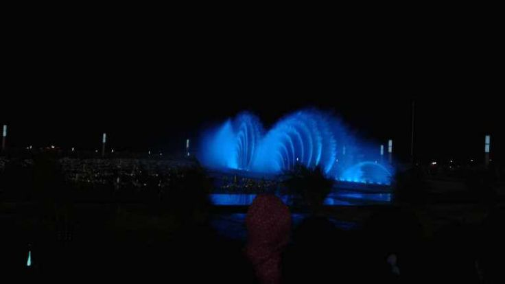 Water Show at Green Harbour in Dalian, China.