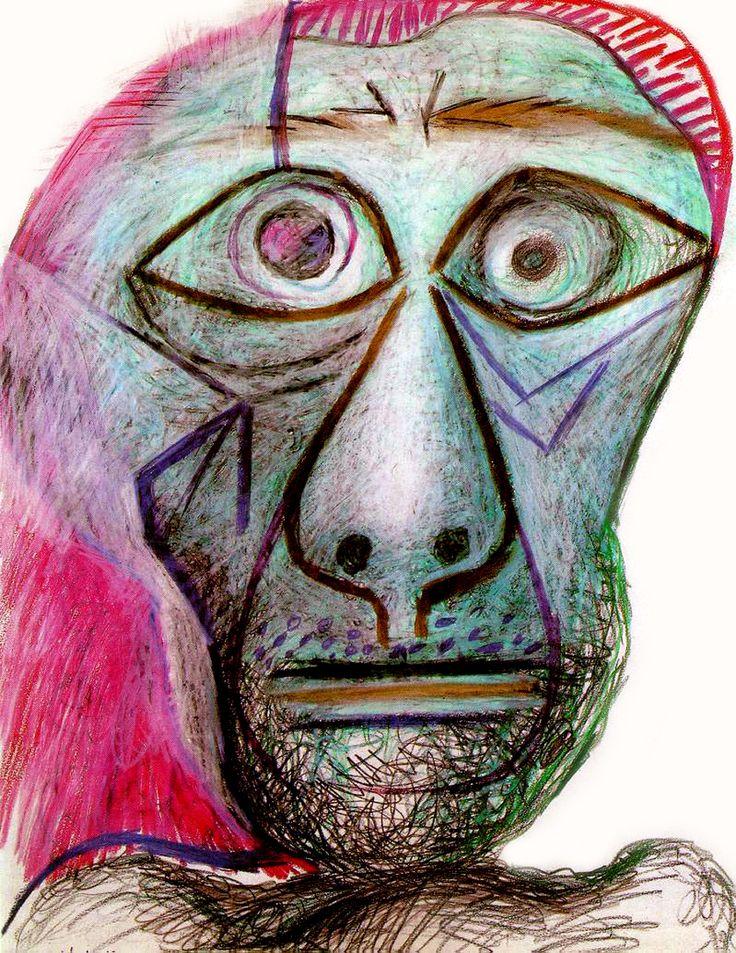 Facing Death (self portrait) by Pablo Picasso - 1972