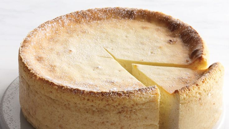 Secret ingredient time! Crushed matzo meal adds depth to this ricotta cheesecake recipe.