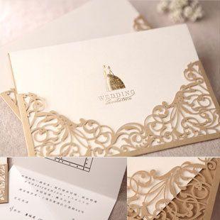 Творческий Свадебные приглашения Золотые 2013 балун Сен приглашения приглашения персонализированные приглашения CW1016-Европейский Taobao
