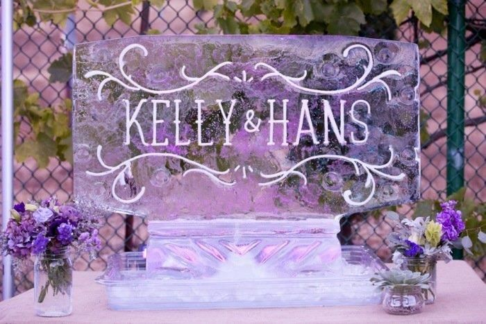 Classic Name Ice Sculpture for Special Day