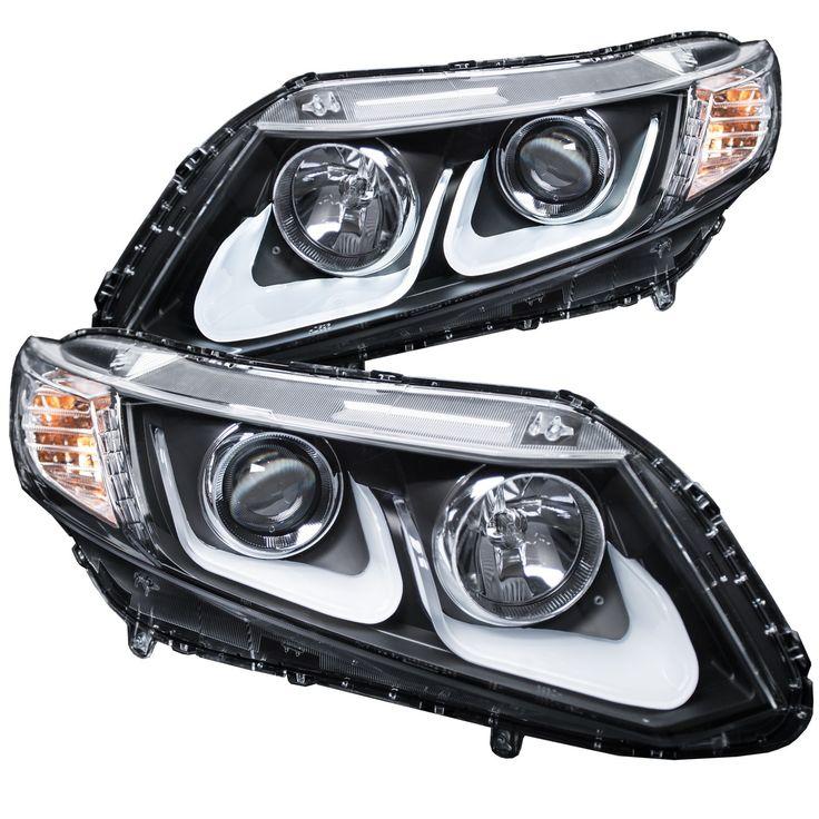 Best 25 honda civic headlights ideas on pinterest honda civic anzo projector headlights black 2012 2015 honda civic set of 2 sciox Images