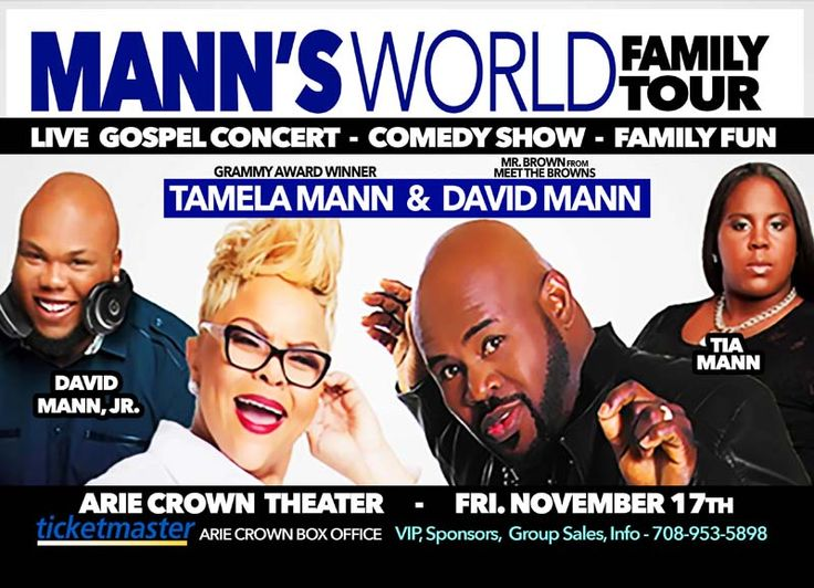 Click on the Following Link to Enter to Win 2 FREE Tickets to the Mann's World Tour hosted by Pastor John Hannah on Nov 17, 2017 @ the Arie Crown Theater in Chicago! Tickets Start at $25 For VIP / Meet & Greet Tickets or Ticket Info Call: 708-953-5898 https://actionsprout.io/80AA50
