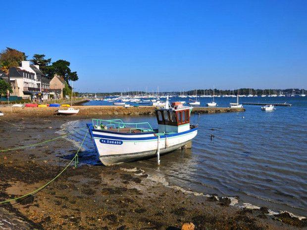L'île aux Moines dans le Golfe du Morbihan en Bretagne, en France
