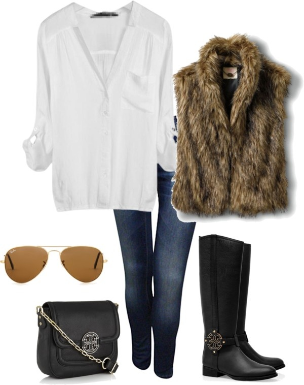 Have always wanted a furry vest for winter, but never know if I'm chic enough to pull it off... Perhaps this winter will be the one!